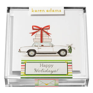 Happy Holidays Enclosure Cards in Acrylic Box