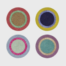 Load image into Gallery viewer, Bright Stripe Coasters - Set of 4