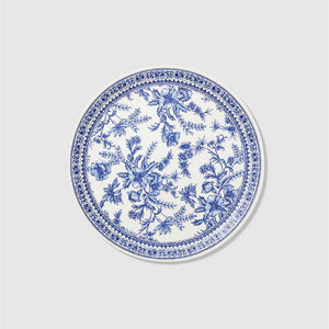 French Toile Large Paper Party Plates (10 count)