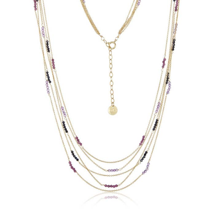 Multi Strand Mixed Sapphire Necklace