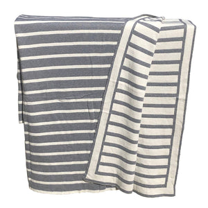 Striped Knit Throw Blanket