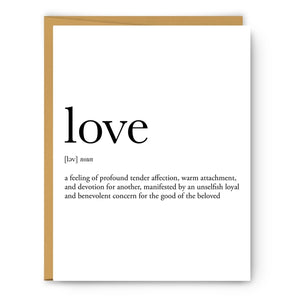 Love Definition Card