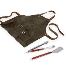 Load image into Gallery viewer, BBQ Apron with Tools & Bottle Opener