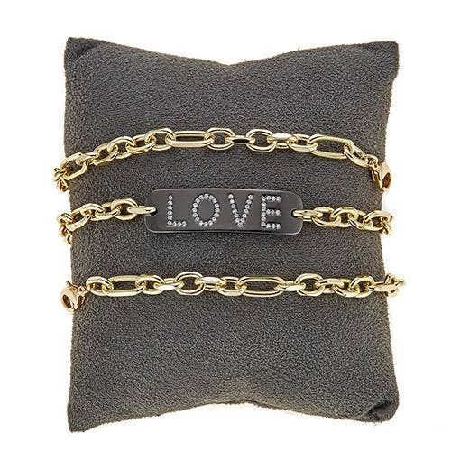 Love on Multi Link Bracelet