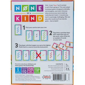 None of a Kind - The Challenging, No-match Brainteaser Game