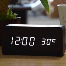 Load image into Gallery viewer, Walnut Wood Digital Clock