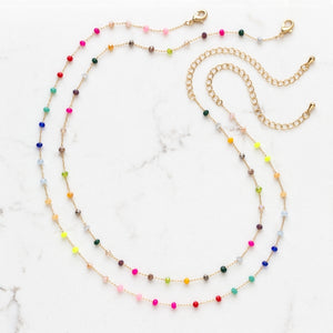Neon Beads Choker Necklace