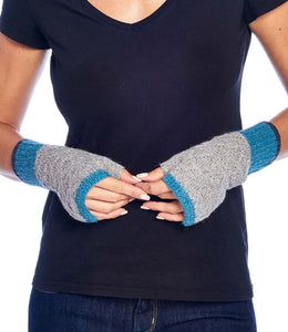 Alpaca Gloves - Color Block - Aqua
