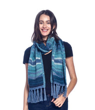 Load image into Gallery viewer, Alpaca Scarf - Colorado - Azul
