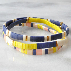 Stretch Tile Bracelet | Yellow Colorblock