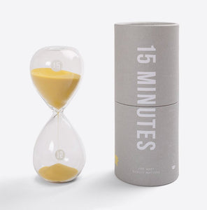 15 Minute Glass Timer