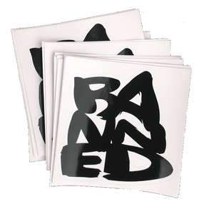 BANNED Stacked 6 inch Stickers