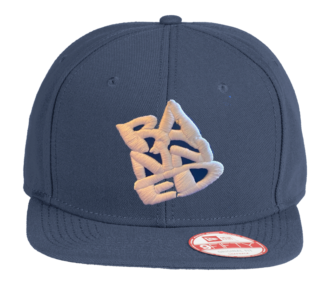 BANNED New Era Snapback Flat Navy