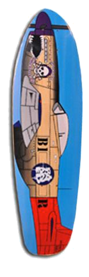 Purple Helmet Cruiser 29 Deck