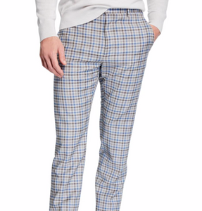 Small Plaid Casual Pants