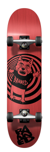 Cat Bear Complete Skateboard Red