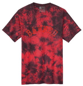 Applique Tie Dye S/S T-shirt Blood