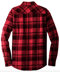 Balmoral Plaid Flannel L/S Shirt Red/Burgundy