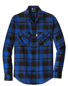 Balmoral Plaid Flannel L/S Shirt Blue