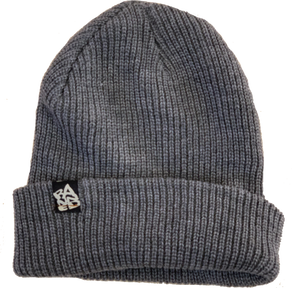 Ribbed Beanie Charcoal Grey