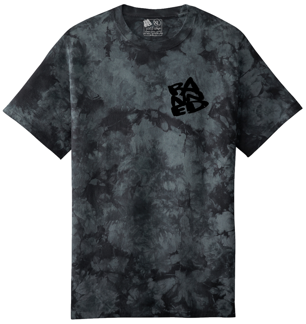 Stacked Tie Dye S/S T-shirt Black