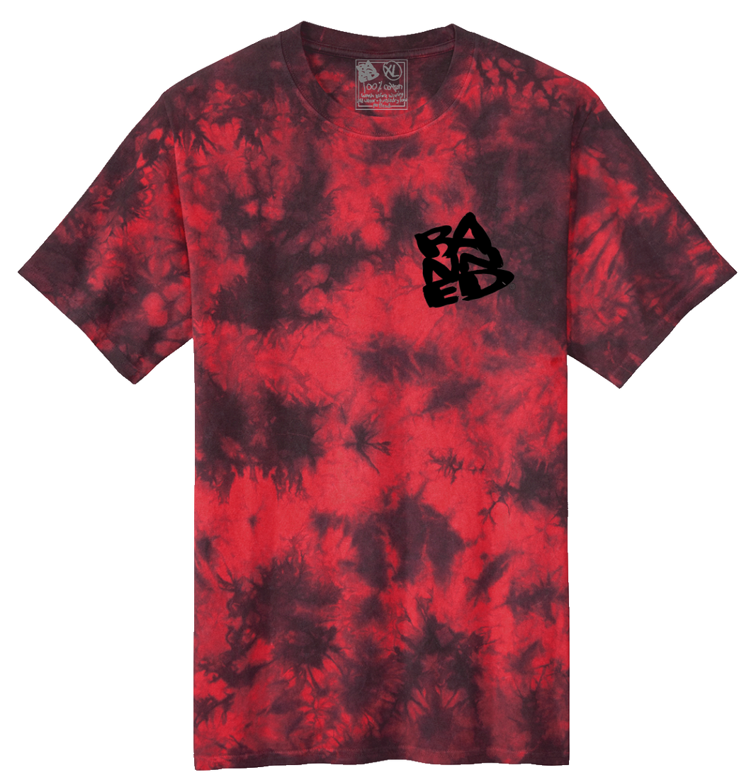 Stacked Tie Dye S/S T-shirt Blood