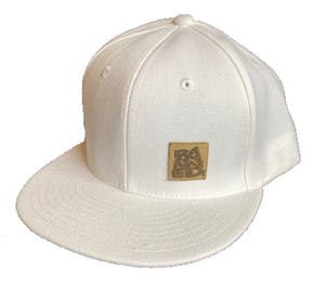 BANNED Midfielder Cap Flat Bill Snap Back White