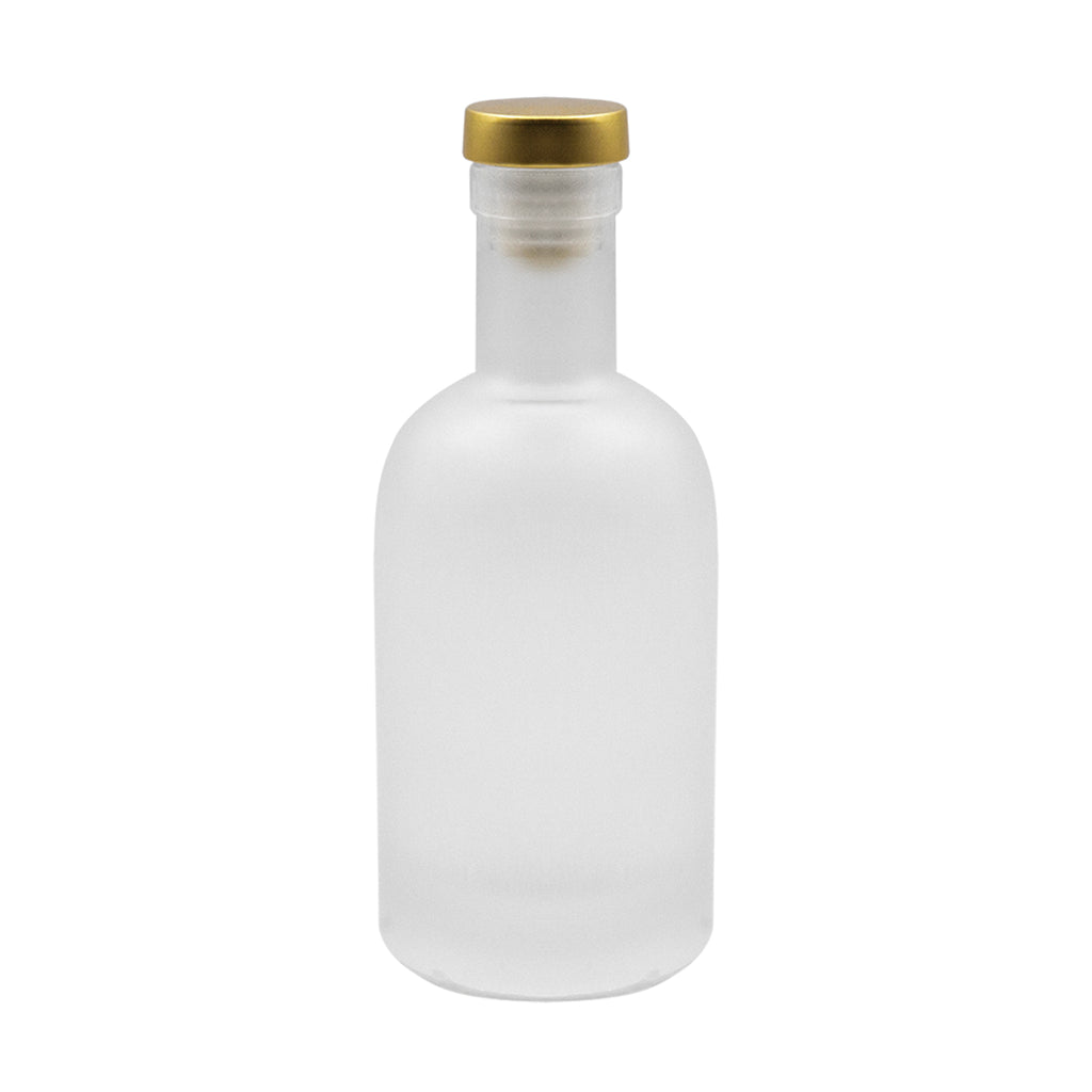 Frosted Glass Wine Bottle (6pcs)