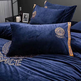 VERSACE 100% VELVET BED SHEETS WITH 2 PILLOWCASES