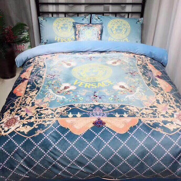 VERSACE 100% COTTON BED SHEETS WITH 2 PILLOWCASE