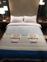 VERSACE 100% COTTON BED SHEETS WITH 2 PILLOWCASES