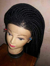 Handmade cornrows frontal Closure Wig