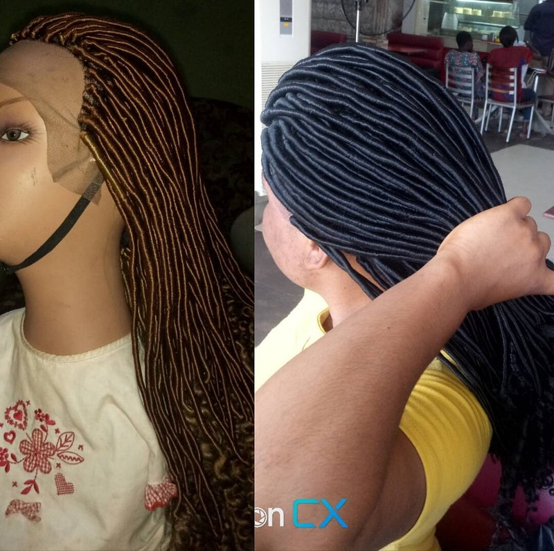 Faux Locs Lace Frontal Wig