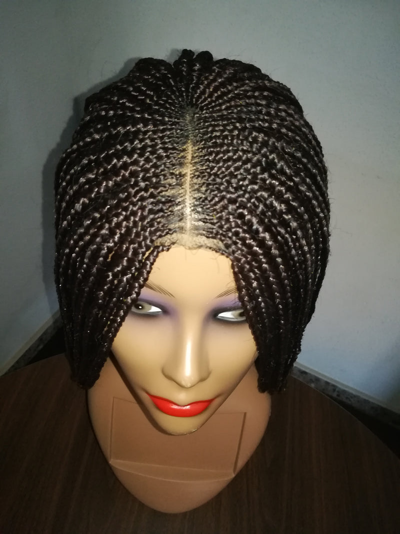 Tricia Cornrows lace Closure Braid wig