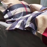 BURBERRY 100% COTTON BED SHEETS WITH 2 PILLOWCASES