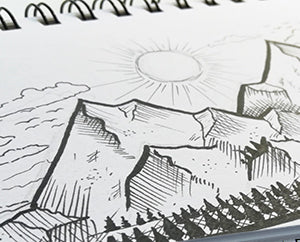 How to draw a mountain landscape with ink pens