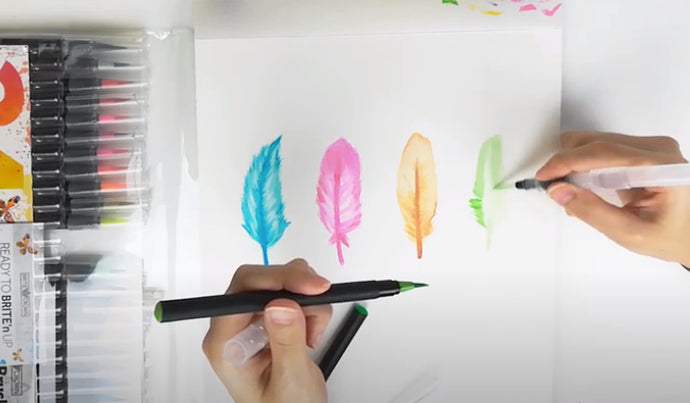 How to create feathering effects with watercolor pens