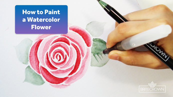 How to paint a watercolor flower