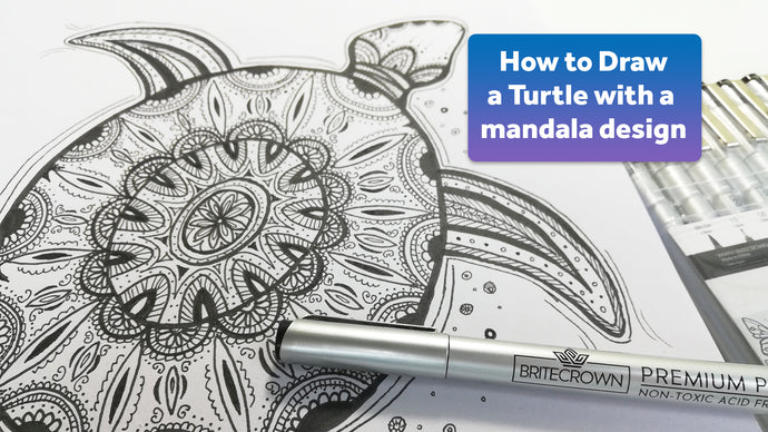 How to Draw a Turtle with a Mandala Design
