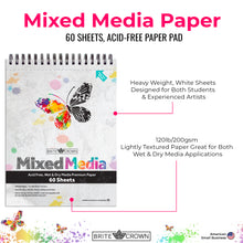 Load image into Gallery viewer, Mixed Media Paper Pad (60-sheet)