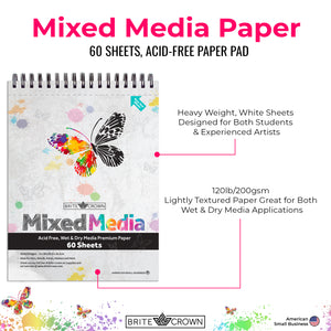 Mixed Media Paper Pad (60-sheet)