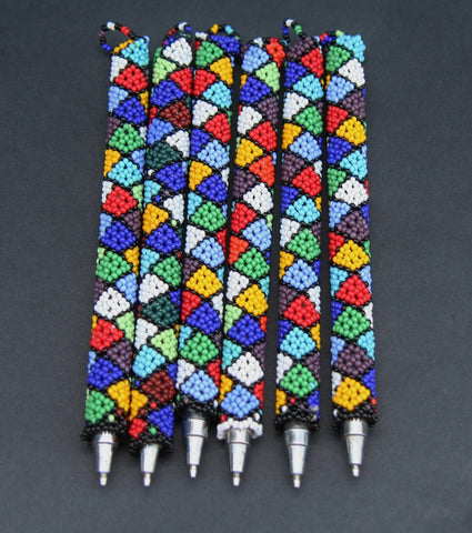 Beaded African Pen Cover and Pen - culturesinternational  - 1