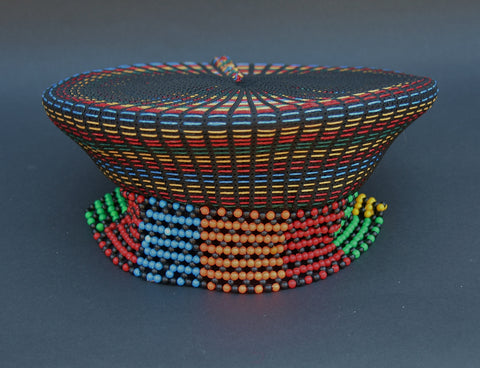 Zulu Married Woman's Headdress Hat  Multicolor Inkehli Vintage - Cultures International From Africa To Your Home