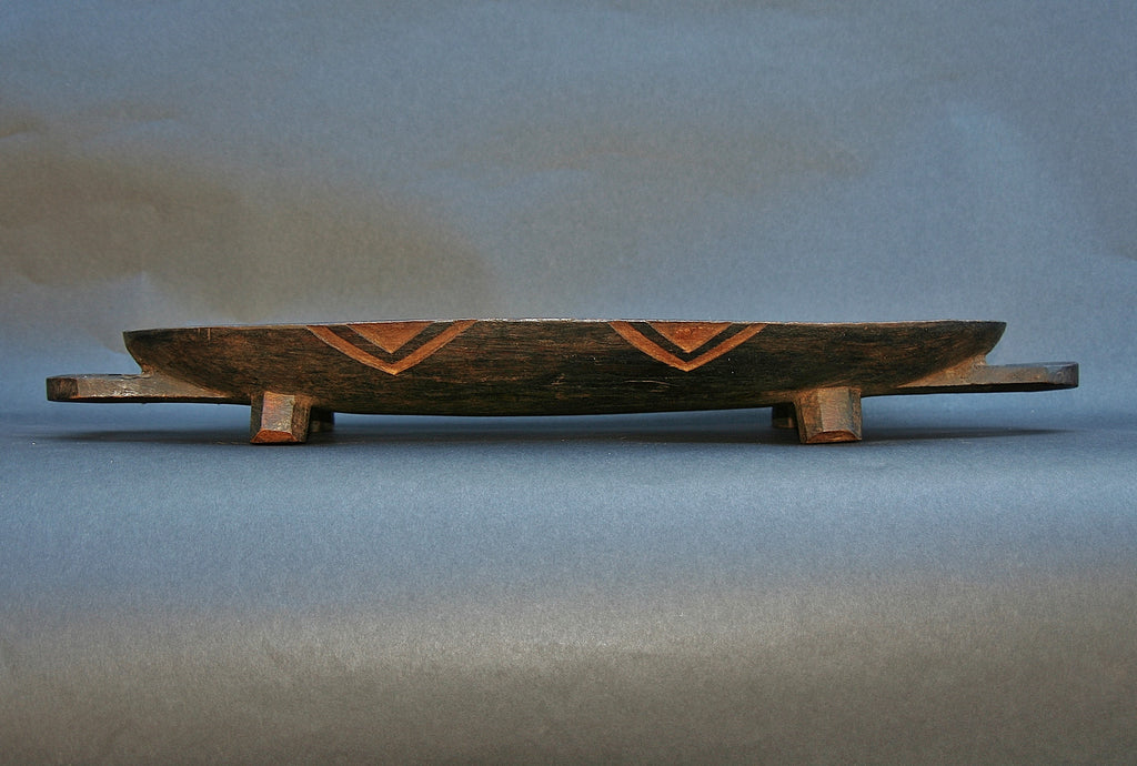 African Zulu Meat Platter Wood Carved 5 - South Africa - Cultures International From Africa To Your Home