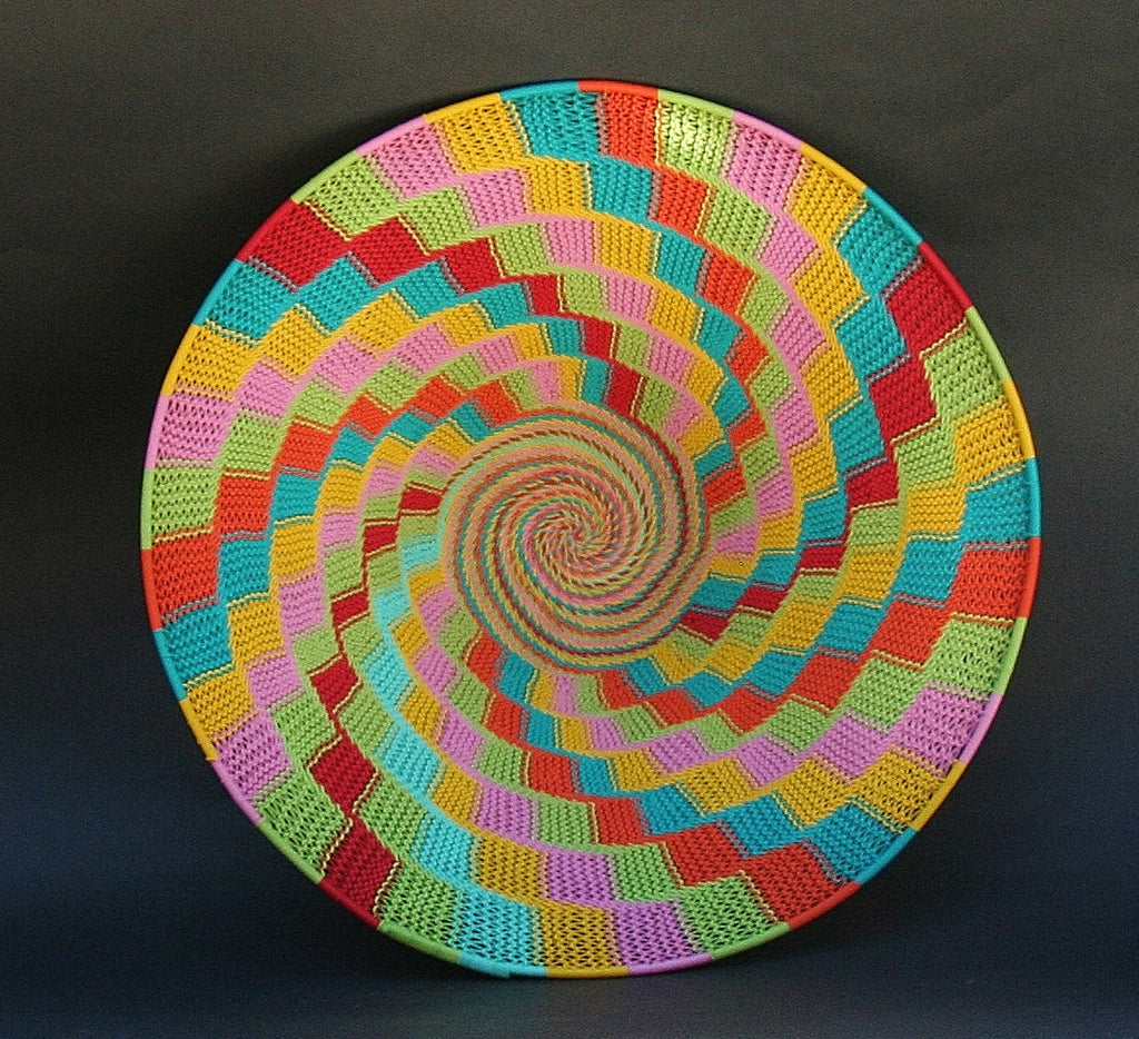 "African Telephone Wire Bowl Candy Colors - 14"" D X 4""H - culturesinternational  - 1"