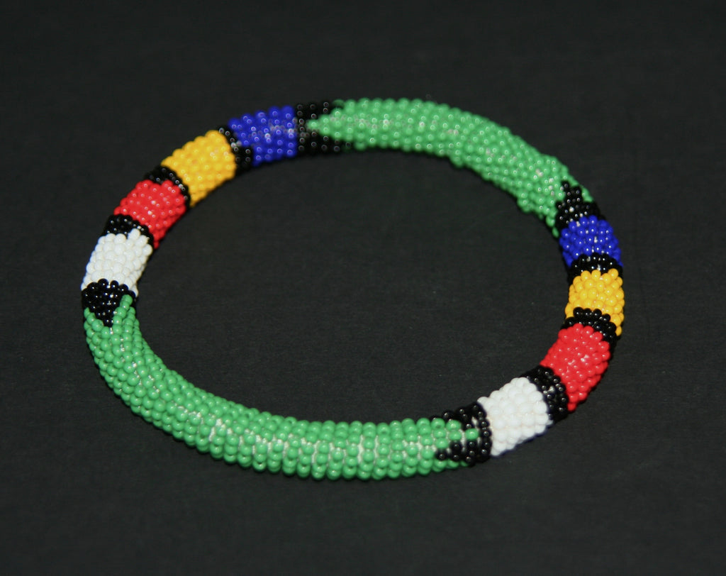 African Zulu Beaded Rope Bangle Multiple Colors - Cultures International From Africa To Your Home