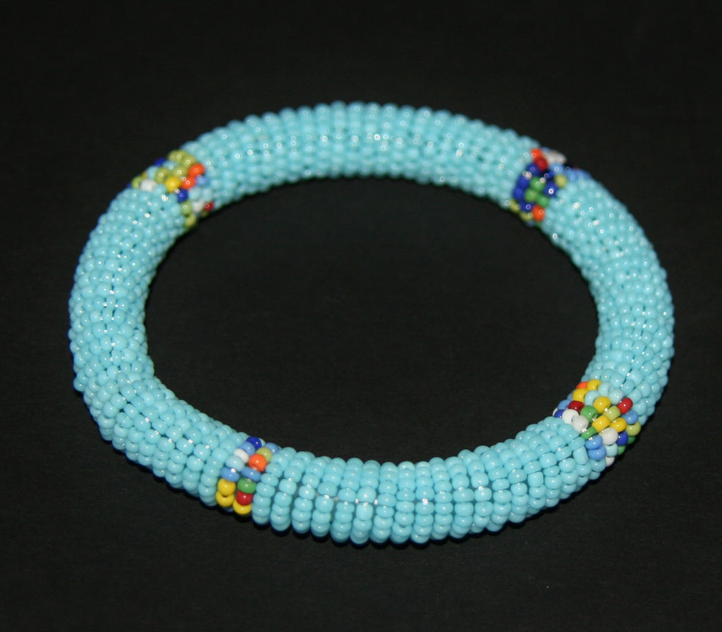 African Maasai Tribal Bead Bangle Multiple Colors Kenya - culturesinternational  - 2