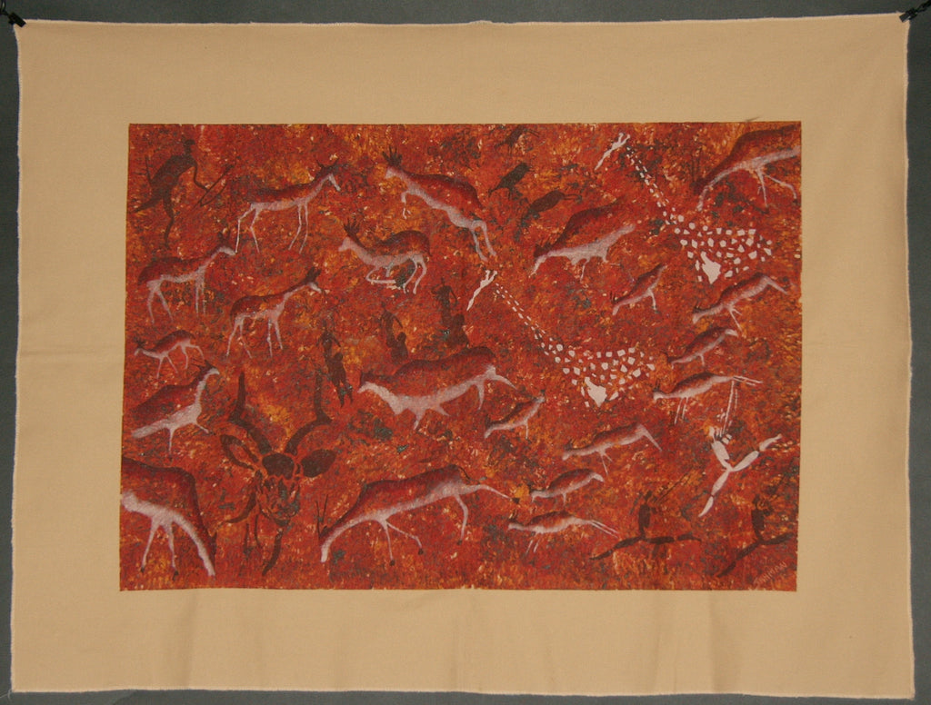 African tribal rock cave art original painting south