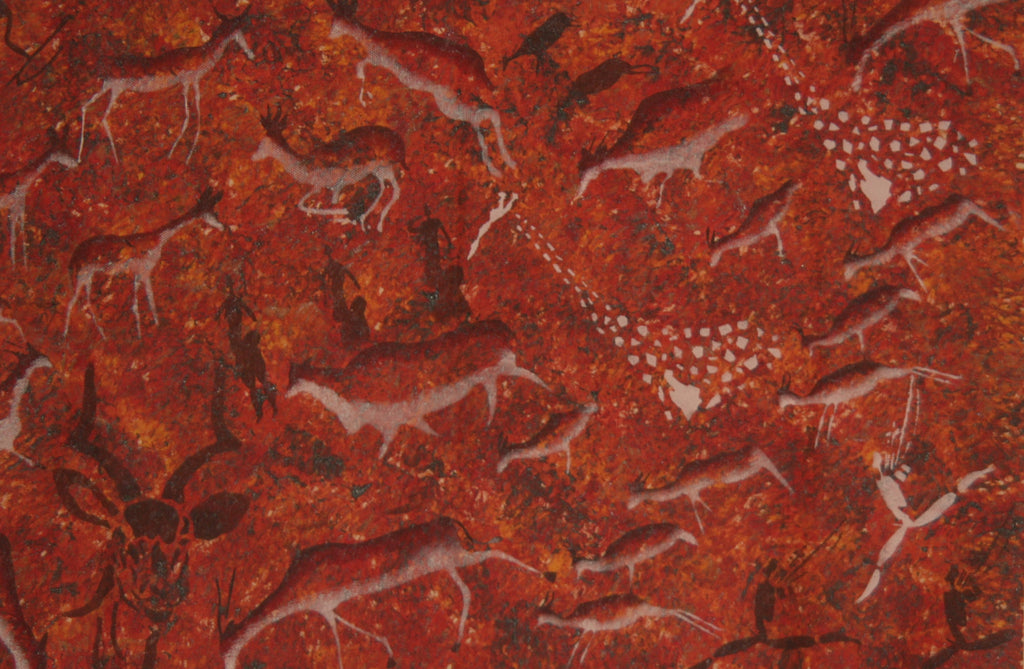 "African Tribal Rock Cave Art Original Painting  South Africa 39"" W X 30"" H - Cultures International From Africa To Your Home"