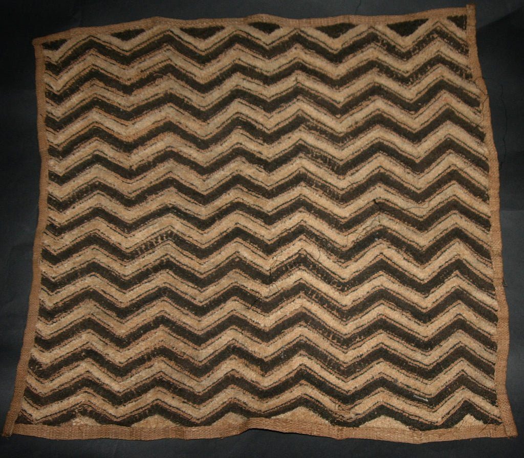Antique African Kuba Shoowa Cloth 6 Handwoven in the Congo DRC - culturesinternational  - 1
